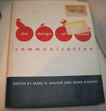 DESIGN OF ANIMAL COMMUNICATION HAUSER KONISHI HC  0 262 08277 2 GOOD COND