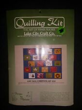 "LAKE CITY CRAFTS QUILLING KIT ""GIFT TAGS, CHRISTMAS"" 12 DESIGNS #243 NEW"