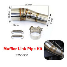 Tail Muffler Mid Section Adapter Motorcycle Exhaust Middle Pipe Link Accessories