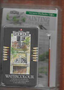 Unopened tin of Rexel Derwent watercolour pencils/pens etc.