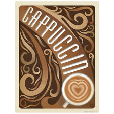 Cappuccino Heart Coffee Decal 26 x 34 Peel and Stick Kitchen Decor