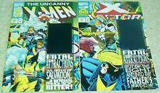 X-Men 304, X-Factor 92, NM- (9.2), Both Hologram covers!