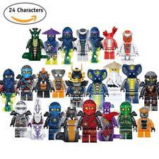 24 Pcs Ninjago Mini Figures Kai Jay Sensei Wu Master Building Blocks Toys Set
