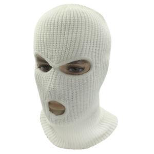 3 Hole Face Mask Ski Mask Winter Cap Balaclava Hood Army Tactical Mask