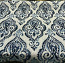Swavelle Shamaris Blue Tide Damask Chenille Upholstery Fabric by the yard