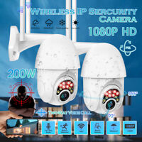 2X HD 1080P IP Camera Outdoor WiFi PTZ CCTV Security Wireless Dome Smart IR Cam