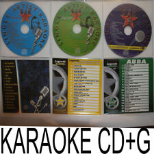 KARAOKE CDG LEGEND ABBA,CARPPENTER & OLIVA NEWTON, JURNEY,CARRIE,SUGARLAND,BUBLE