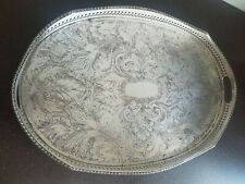 Silver Plate On Cooper Made In Sheffield England Tray