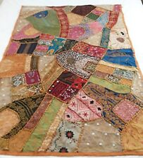 India Patchwork Wall Hanging Handmade Beaded Tapestry Decorative 39x56
