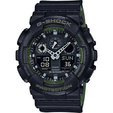 Crazy Deal New G-Shock GA100L-1A Military 3-Eye Analog-Digital Black/Green Watch