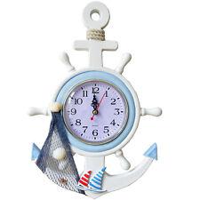 Orologio Da Parete In Legno Forma Di Timone Barca Marina Sea Design moc