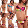 Bikini costume bagno donna moda mare OPTICAL due pezzi ferretto lacci B2927