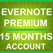 Evernote Premium - 15 Months New Account Subscription. Fast delivery.