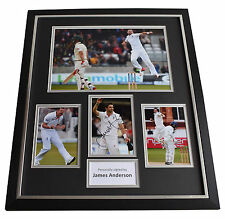 James Jimmy Anderson SIGNED Framed Photo Autograph Huge display Cricket & COA