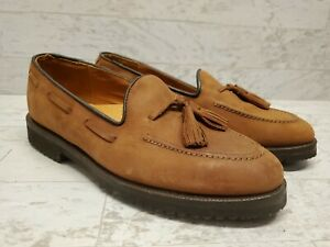 Cole Haan Leather Loafers Tassels Brown Slip-On Vibram Soles Womens Size 7D