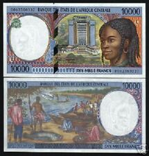 CENTRAL AFRICAN STATES GABON 10000 FRANCS P405L 2000 SHIP UNC CURRENCY BANK NOTE