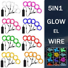 5Pcs Party Neon LED Light Glow EL Wire String Strip Rope Tube Christmas Gifts