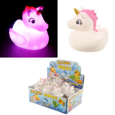 ONE LIGHT UP UNICORN DUCK FUN! GIFT STOCKING FILLER UNICORNS TOY LIGHTS KID'S