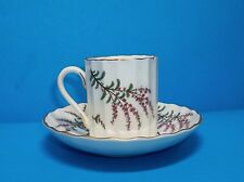 "ROYAL WORCERSTER ""DUNROBIN"" DEMITASSE CUP AND SAUCER SET"