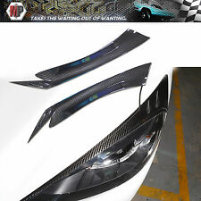 Headlight  Eye Lid Brows Carbon Fiber Fits for 13 14 2015 Mazda CX5 CX-5
