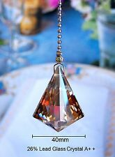 ONE - LEAD GLASS CRYSTAL DIAMOND - 40 MM - CEILING LIGHTING FAN PULL