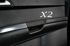 ORANGE STITCH FITS VOLVO S40 & V50 2004-2013 2X REAR DOOR HANDLE LEATHER COVERS