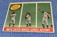 1959 Topps #464 Baseball Thrills Willie Mays The Catch History Grading Warranty