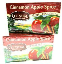 Celestial Cinnamon Apple Spice Herbal Tea 20 bags each ~ Lot of 2