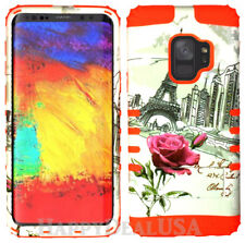 for Samsung Galaxy S9 & Plus - KoolKase Hybrid Cover Case - Eiffel Tower Rose 27