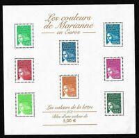 Bloc Feuillet 2002 N°45 Timbres France Neufs - Les Couleurs de Marianne en Euros