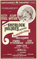 "Keith Michell SHERLOCK HOLMES ""Crucifer of Blood"" 1979 London Opening Flyer"