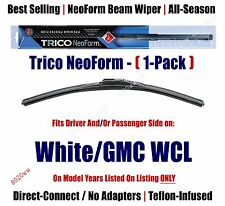(Qty 1) Super Premium NeoForm Wiper Blade fits 1988-1993 White/GMC WCL  16200