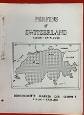 Perfins of Switzerland, Album - Catalogue