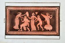Griechische Mythologie Vasen Greek Mythology Vases ca 1850 Original Etching 51