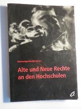 Butterwegge / Hentges - Alte und neue Rechte an den Hochschulen