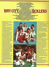 BAY CITY ROLLERS 'Saturday Scene' UK ARTICLE / clipping