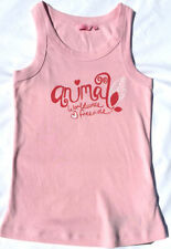 Girls' Logo 100% Cotton Vest T-Shirts, Top & Shirts (2-16 Years)