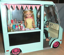 "OG Girls Sweet Treats Ice Cream Truck 18"" Doll American Girl 100+ pcs Electronic"