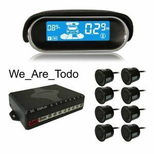 KKMOON - Black - 12V, 8 Parking Sensor Car Reverse Alert System, LCD, Protection
