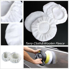 4 X Terry Cloth&Woolen Fleece Car 9-10inch Polishing Bonnet Buffer Polishing Pad
