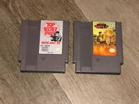 Operation Wolf & Golgo 13 2 Game Lot Nintendo Nes Cleaned & Tested Authentic