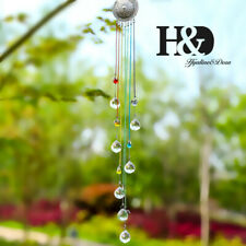 Handmade Crystal Chakra Rainbow Chain Suncatcher 20mm Balls Prism Angel Pendant