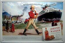 Johnnie Walker Whisky / Queen Elizabeth embossed steel sign 300mm x 200mm (hi)
