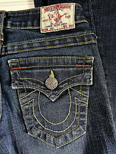 True Religion Jeans Joey Boot Cut Flap Pocket Womens Size 24 USA Made