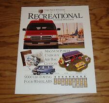 Original 1995 Dodge Recreational Van & Wagon Sales Brochure 95 Ram