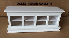 Low Level White Shop Counter Display, Doll House Miniature, 1.12 Scale Furniture