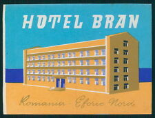 BRAN Hotel old Luggage label EFORIE NORD Romania dECO