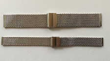 MESH STAINLESS STEEL WATCH STRAP 10MM TO 24MM FITS STOWA/MONDAINE/JUNGHANS/ETC