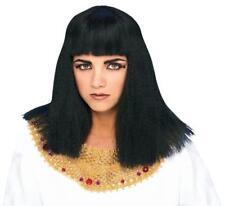 CLEOPATRA egiziana nero Parrucca FANCY DRESS EGITTO REGINA Donna Accessorio Costume