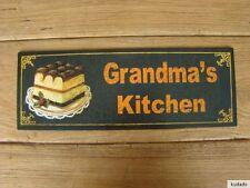 Nr.G9990 Grandma´s Kitchen - SCHILD - Blechschild - Nostalgie - Küche - Kuchen